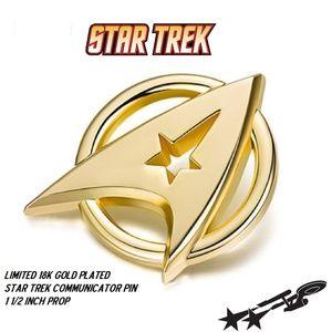 Limited 18k Gold Plated Star Trek Logo Metal Pin